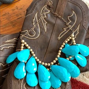 Great southwestern necklace 16 turquoise beads